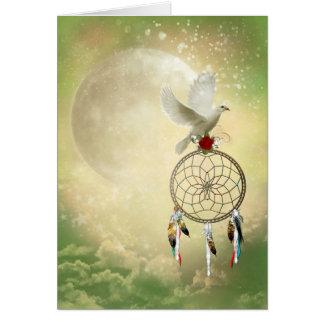 Dove Dreamcatcher Greeting Card