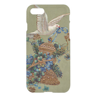 Dove Forget Me Not Four Leaf Clover Bell Evergreen iPhone 7 Case