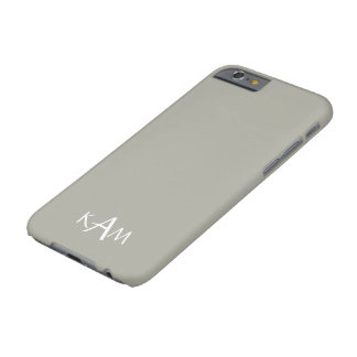 Dove Grey and White Borders and Text Barely There iPhone 6 Case