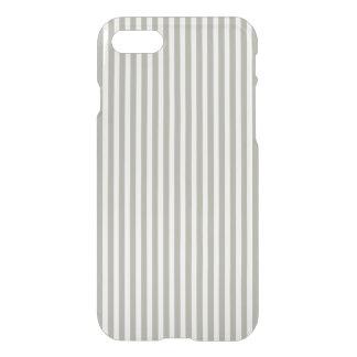 Dove Grey and White Cabana Stripes iPhone 7 Case