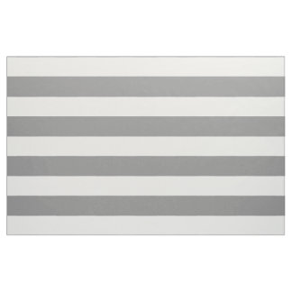 Dove Grey and White Stripes Fabric