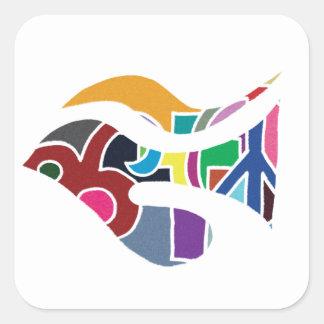 Dove in Color Square Sticker
