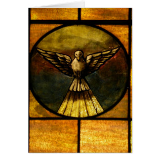 Dove in stained glass greeting card