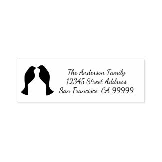 Dove Love Birds - Self Inking Address Stamp