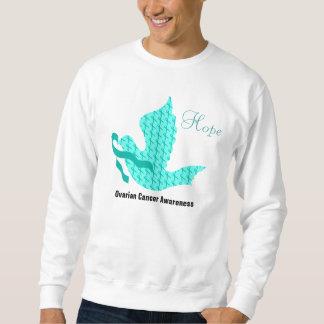 Dove of Hope - Teal Ribbon Ovarian Cancer Sweatshirt
