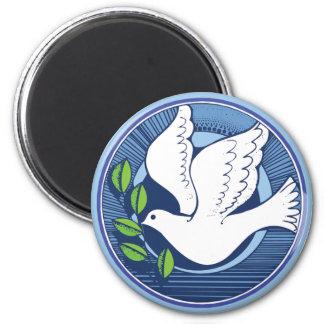 Dove of Peace 6 Cm Round Magnet