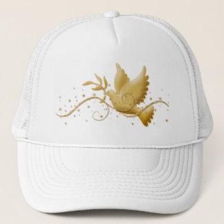 Dove of peace Christmas holidays elegant peak caps
