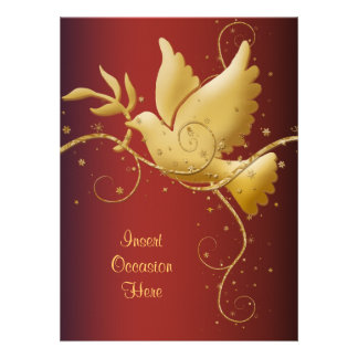 Dove of peace Christmas Personalized Announcements