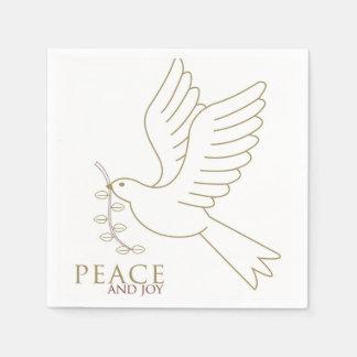 Dove of peace disposable serviette