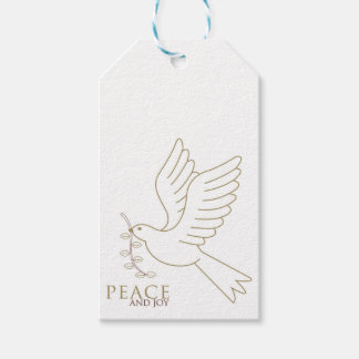 Dove of peace gift tags