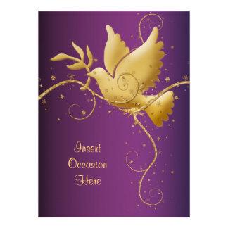 Dove of peace invitation