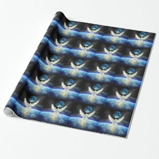 Dove of Peace over Earth from Space Wrapping Paper