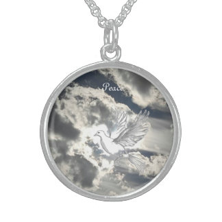 Dove of Peace Sterling Silver Necklace