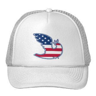 Dove of Peace. USA Patriotic Design Hat