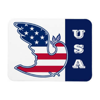 Dove of Peace . USA  Patriotic Gift Magnet Rectangle Magnets