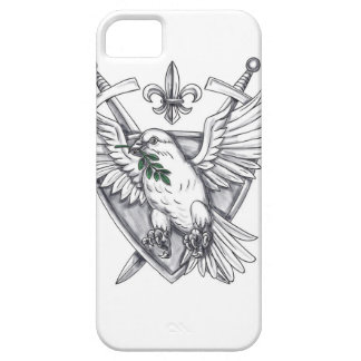 Dove Olive Leaf Sword Crest Tattoo Barely There iPhone 5 Case