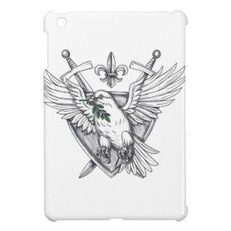 Dove Olive Leaf Sword Crest Tattoo iPad Mini Cover