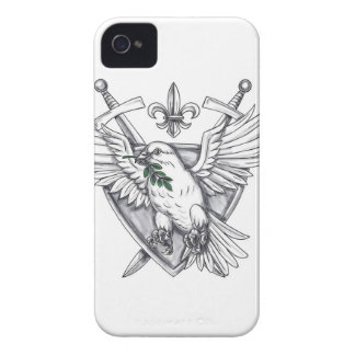 Dove Olive Leaf Sword Crest Tattoo iPhone 4 Cover