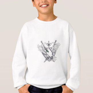 Dove Olive Leaf Sword Crest Tattoo Sweatshirt