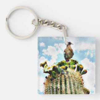 Dove on Saguaro Key chain