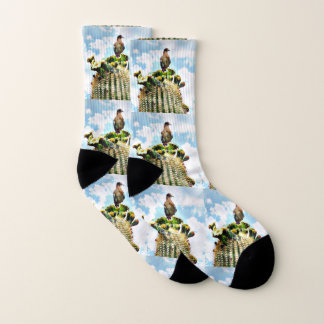 Dove On Saguaro Unisex Socks 1