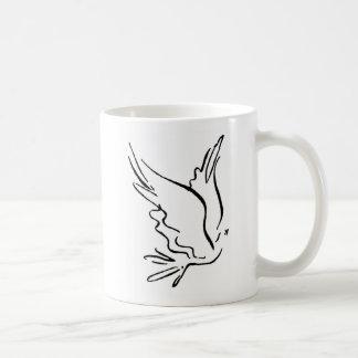 Dove Outline 1 Basic White Mug