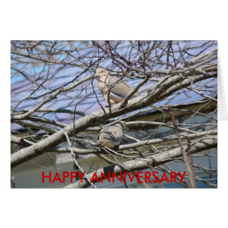 Dove Pair Among The Branches, HAPPY ANNIVERSARY Card