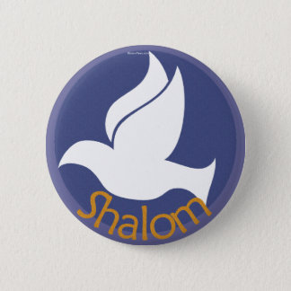 Dove Shalom Button