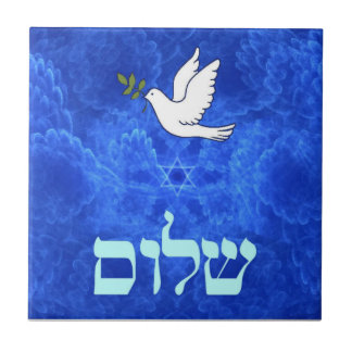 Dove - Shalom Small Square Tile
