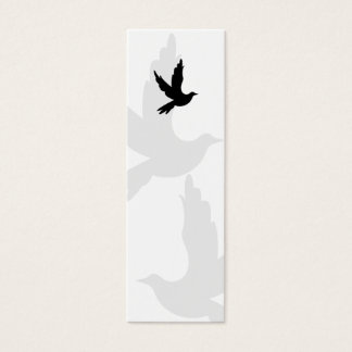 Dove Silhouette Bookmark Mini Business Card