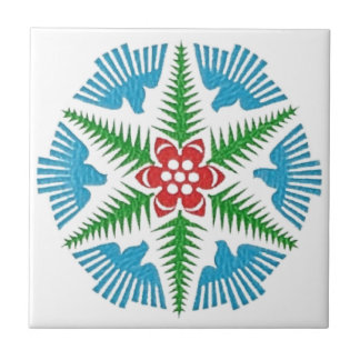 Dove Snowflake Ceramic Tile