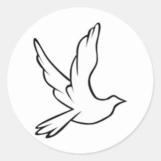 Dove Symbol Classic Round Sticker