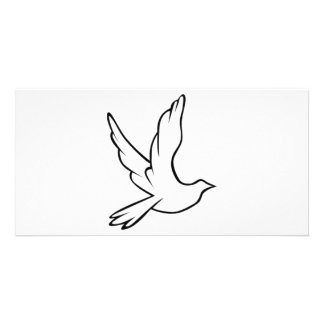 Dove Symbol Customized Photo Card