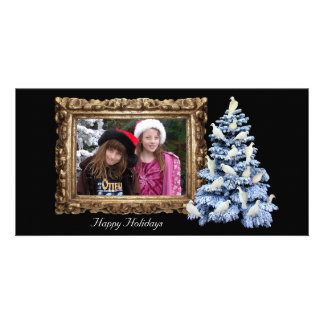 Dove Tree Holiday Photo Card Horizontal