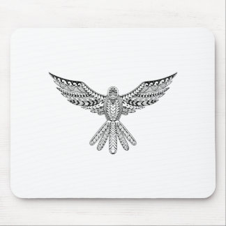 Dove Tribal Tattoo Mouse Pad