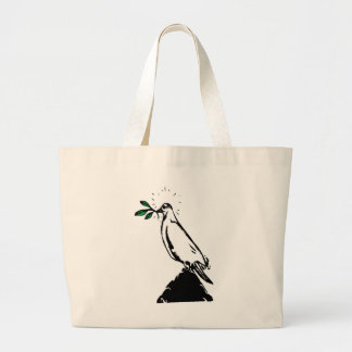 Dove With Branch Tote Bags