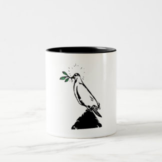 Dove With Branch Coffee Mugs