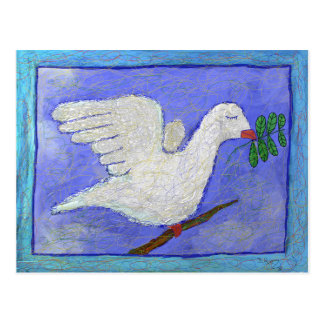 Dove with Olive Branch Postcard