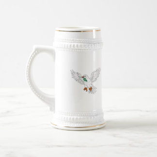 Dove With Olive Leaf Drawing Beer Stein