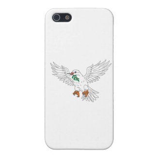 Dove With Olive Leaf Drawing iPhone 5 Case