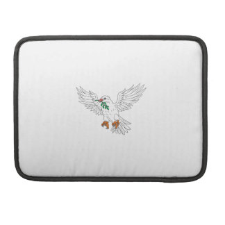 Dove With Olive Leaf Drawing Sleeve For MacBooks
