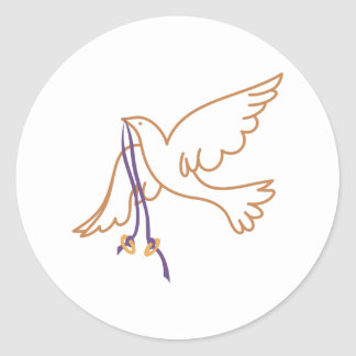 Dove with Rings Round Sticker