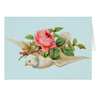 Dove with Rose Card