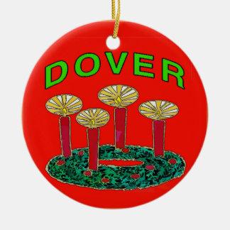 Dover Delaware Christmas Tree Ceramic Ornament