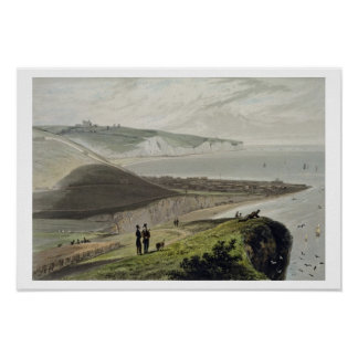 Dover, from Shakespeare's Cliff, from 'A Voyage Ar Poster