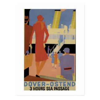 Dover-Ostend - 3 Hour Sea Passage - Vintage Postcard