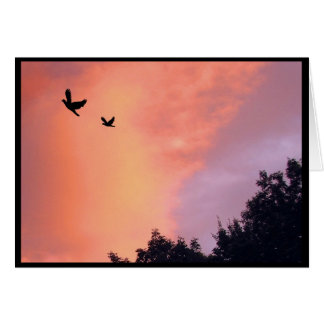 Doves at Sunset Mothers Day Greeting Card