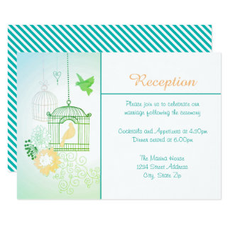 Doves & Cages - Reception Invitation