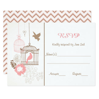 Doves & Cages - RSVP Response Cards
