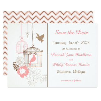 Doves & Cages - Save the Date Card